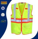 Vest van de Veiligheid van de Band Vis van de Polyester van mensen 100% hallo Weerspiegelend