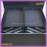 Schwarze ABS Oberflächen-Aluminiumkombinationsschloss-kosmetischer Kasten (SACMC149)