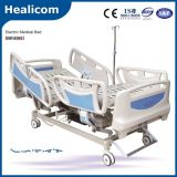 Dp-E001 cama de hospital eléctrica de la función del equipamiento médico cinco