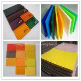 Feuille en plastique d'acrylique de bâti de couleur fluorescente de plaque de perspex
