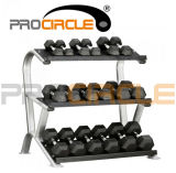 Rubber Hex Dumbbell (PC-DD1001-1009)のCrossfit Fitness Iron