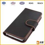Caixa barata do couro do telefone móvel da forma nova da chegada para Samsung