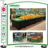 アクリルのスーパーマーケットの果物と野菜の陳列だな
