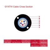 2-12 Optische Kabel GYXTW van de Vezel van de Buis van kernen de Centrale Losse Gepantserde Openlucht