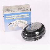 40X portatile Jewelry Magnifier Loupe, Folding Pocket Mini LED Jewelry Magnifier Lamp/Lens con Light (EGS-9893)