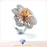方法宝石類の高品質及び熱い販売の優雅な花のリングの銀の宝石類のリングR10501