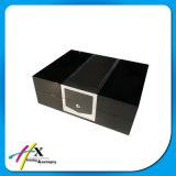 Grandes de lujo de la pintura negra brillante de la alta calidad escogen el rectángulo de regalo de empaquetado del reloj