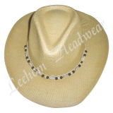 Fahison Cowboy Seagrass Straw Bucket Hat