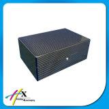 Doppelte Stück-Uhr-verpackenkasten-Luxuxqualitäts-Kohlenstoff-Faser-Uhr-Ablagekasten
