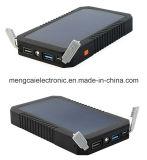Côté portatif duel solaire certifié par RoHS de la CE de FCC de téléphone mobile d'USB et de Li-Polymère de pouvoir pour l'iPhone et le Samson