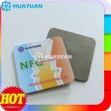 13.56MHz NTAG213 passives auf Aufklebermarke des Metall NFC