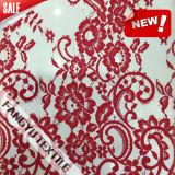 Ткань шнурка цветка нового способа 2016 красная