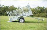 Aanhangwagen van de Doos van de Controleur van de Stijl van Australië de Plateerder Gelaste met Facultatieve Kooi