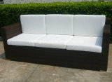 옥외 정원 가구 편평한 합성 PE 등나무 고리버들 세공은 3-Seat&Club 의자로 이완한다 (YT253) 놓인 소파를