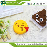 Batería 2600mAh de la potencia del PVC Emoji del nuevo producto 2017 para el teléfono