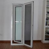 Guichet en aluminium de tissu pour rideaux de profil de la qualité Kz117 avec l'écran d'acier inoxydable