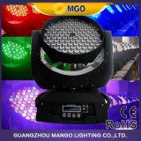 Pistas móviles 108X3w RGBW los 4in de la iluminación de DJ 1 luz de la etapa