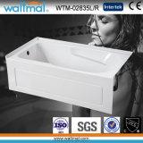 Bañera incorporada del diseño simple popular del cuarto de baño con la parte inferior Ninguno-Deslizante