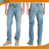 New Mens Slim Fit Straight Denim Trousers Blue Jeans