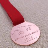 Médaille de recyclage personnalisée de médaillon de passage en métal pour le Triathlon
