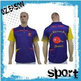 Ontwerp van de Douane van de T-shirts van het Polo van de Sublimatie van de Kleur van de Sportkleding van Ozeason het Gele voor Mensen