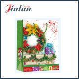 صنع وفقا لطلب الزّبون يرقّق مع تلألؤ & [3د] عيد ميلاد المسيح تسوق ورقة هبة حقيبة
