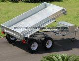 Хозяйственный 10X5FT горячий окунутый гальванизированный используемый фермой трейлер гидровлического трейлера Tipper сверхмощный