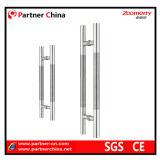 Manija moderna del tirón del acero inoxidable 304 para la puerta de cristal (01-102)
