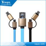 2 em 1 USB Plano OTG cabo para iPhone / Samsung / Huawei / Alcatel