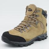 Кожа напольной обуви людей неподдельная Hiking водоустойчивые ботинки