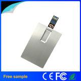 Movimentação do flash do USB do cartão de crédito do negócio de alumínio 8GB