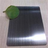 Pellicola protettiva di titanio nera spazzolata delle Anti-Impronte digitali 7c dello strato di PVD, piatto di colore dell'acciaio inossidabile 304