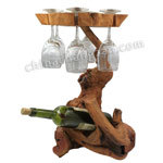 Form und Exquisite Root Carving Wine Rack