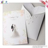 Cartões preto e branco do coreano do convite do vestido