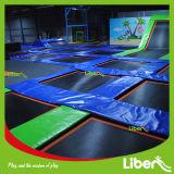 Parque de interior certificado ASTM del trampolín del TUV con los aros de baloncesto