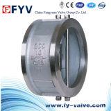 Válvula de verificação dupla da bolacha da placa do aço inoxidável