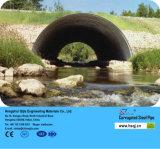 12 pollici Caldo-Hanno tuffato il canale sotterraneo ondulato conduttura galvanizzato