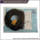 Extensão Nano do cabelo dos anéis do cabelo preto de cabelo humano do Virgin