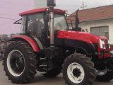 Tracteur chaud d'agriculture de roue de la vente 100HP 4WD avec la verrière