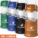 linterna impermeable plegable de la linterna de la luz LED de la tienda que acampa 3AAA