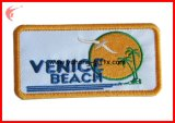 Embroidery quadrato Badge con Overlock Edge per Garments (YH-EB061)