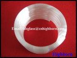 Canalisation blanche laiteuse de polissage en verre de quartz d'enroulement