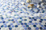 Azulejo de mosaico de cristal del derretimiento caliente redondo del penique para el cuarto de baño y la piscina (BGZ007)