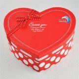 Rectángulo de encargo del caramelo de chocolate del regalo de la dimensión de una variable del corazón de la alta calidad