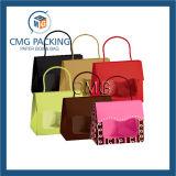 昇進のペーパー買物をするクラフト紙の買物袋(DM-GPBB-022)