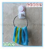 Anel de toalha fixado na parede da ferragem do banheiro com copo da sução
