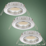 GU10/MR16 fundió el techo a troquel ahuecado aluminio LED Downlight ajustable