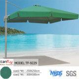 Рекламировать зонтик Сторон-Поляк парасоля пляжа напольный квадратный