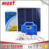 C.C de prix usine 20W 30W outre système d'alimentation solaire portatif de réseau de mini