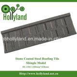El azulejo de azotea del metal con la piedra cubrió (el tipo de la ripia)